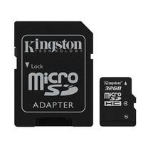 Kingston 32GB MicroSDHC Class 4 4MB/S Memory Card + SD Adapter (SDC4/32GB)