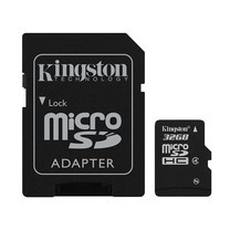 Kingston 32GB MicroSDHC Class 4 4MB/S Memory Card + SD Adapter (SDC4/32GB)