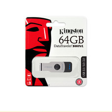 Kingston 64GB DataTraveler SWIVL USB 3.1 Flash Drive (KT037/DTSWIVL-64GB)