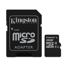 Kingston Canvas Select 16GB MicroSDHC Class 10 80r/10w MB/S Memory Card + SD Adapter (SDCS/16GB)