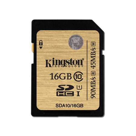 Kingston 16GB SDHC Class 10 UHS-I 90r/45w MB/S (SDA10/16GB)