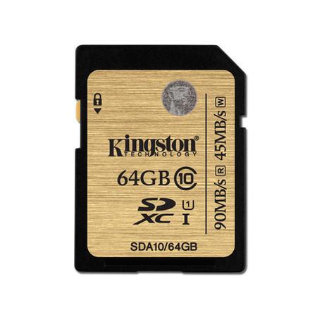 Kingston 64GB SDXC Class 10 UHS-I 90r/45w MB/S (SDA10/64GB)