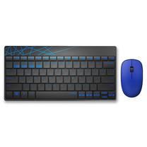 ชุดเมาส์และคีย์บอร์ดไร้สาย Rapoo 8000M Keyboard Mouse Combo Multi-mode Silent Wireless Bluetooth 3.0/4.0 RF 2.4G (Black&Blue)