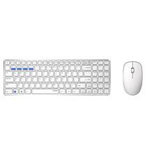 ชุดเมาส์และคีย์บอร์ดไร้สาย Rapoo 9300M Keyboard & Mouse Multi-mode Bluetooth 3.0/ 4.0 RF 2.4G (White)