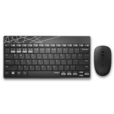 ชุดเมาส์และคีย์บอร์ดไร้สาย Rapoo 8000M Keyboard Mouse Combo Multi-mode Silent Wireless Bluetooth 3.0/4.0 RF 2.4G (Black&White)