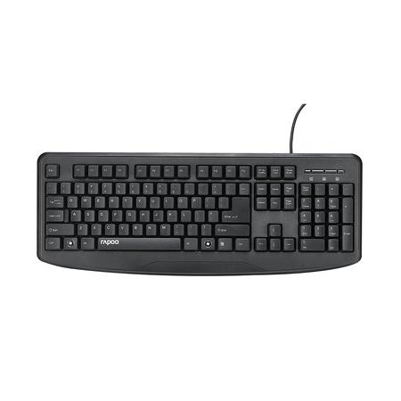 Rapoo NK2500 Wired Spill-resistant Keyboard Black : ไทย / EN (KB-NK2500-BK)