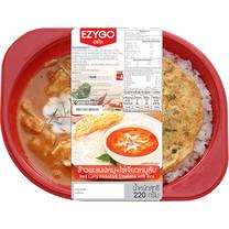 ข้าวพะแนงหมู+ไข่เจียวหมูสับ