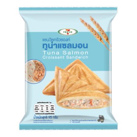 แซนวิชครัวซองค์ทูน่าแซลมอน