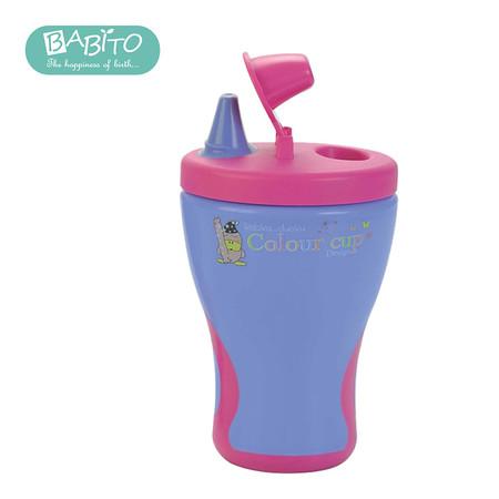 บาบิโต้ แก้วหัดดื่ม รุ่นจุกเปิดปิด สเต็ป 1 สีชมพู