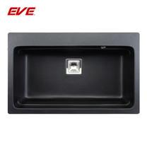EVE อ่างล้างจานแกรนิตสังเคราะห์ 1 หลุม ไม่มีที่พักจาน รุ่น PACO 790/480 (BLACK)