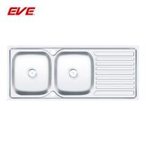 EVE อ่างล้างจานสแตนเลสสตีล 2 หลุม 1 ที่พักจาน รุ่น AUSTIN 1200/500