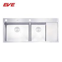 EVE อ่างล้างจานสแตนเลสสตีล 2 หลุม 1 ที่พักจาน รุ่น MIRA 1200/510 LH(หลุมซ้าย)