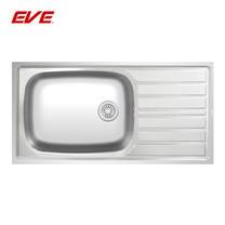 EVE อ่างล้างจานสแตนเลสสตีล 1 หลุม 1 ที่พักจาน รุ่น SPACE 1000/500