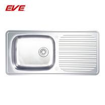 EVE อ่างล้างจานสแตนเลสสตีล 1 หลุม 1 ที่พักจาน รุ่น DELUXE 820/470