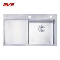 EVE อ่างล้างจานสแตนเลสสตีล 1 หลุม 1 ที่พักจาน รุ่น MIRA 860/510 LH