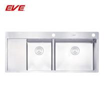 EVE อ่างล้างจานสแตนเลสสตีล 2 หลุม 1 ที่พักจาน รุ่น MIRA 1200/510 RH