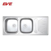 EVE อ่างล้างจานสแตนเลสสตีล 2 หลุม 1 ที่พักจาน รุ่น IMPERIAL 1200/500