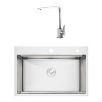 NEW SET 2 อ่างล้างจาน รุ่น TOZEN 780/520 + ก๊อกน้ำ รุ่น LOLA