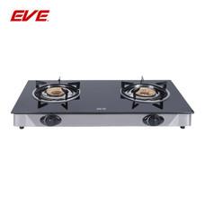 EVE เตาแก๊สตั้งโต๊ะ ฐานกระจกนิรภัยสีดำ (2 หัว) ขนาด 70 CM รุ่น HP70-2SW/BG