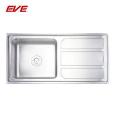 EVE อ่างล้างจานสแตนเลสสตีล 1 หลุม 1 ที่พักจาน รุ่น MEGAN 1000/500