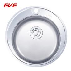 EVE อ่างล้างจานสแตนเลสสตีล 1 หลุม ไม่มีที่พักจาน รุ่น CIRCULAR 510