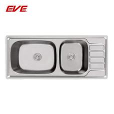 EVE อ่างล้างจานสแตนเลสสตีล 2 หลุม 1 ที่พักจาน รุ่น SPACE XL 1200/500