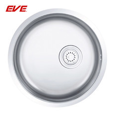 EVE อ่างล้างจานสแตนเลสสตีล 1 หลุม ไม่มีที่พักจาน ชนิดติดตั้งใต้เคาน์เตอร์ รุ่น CIRCULAR 450