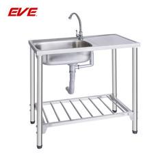 EVE อ่างล้างจานสเตนเลสสตีลชนิดมีขาตั้ง 1 หลุม 1 ที่พักจาน รุ่น EASY 750/430