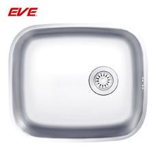 EVE อ่างล้างจานสแตนเลสสตีล 1 หลุม ไม่มีที่พักจาน ชนิดติดตั้งใต้เคาน์เตอร์ รุ่น CUBIC 500/430U