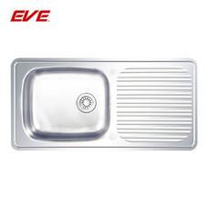 EVE อ่างล้างจานสแตนเลสสตีล 1 หลุม 1 ที่พักจาน รุ่น DELUXE 1000/500