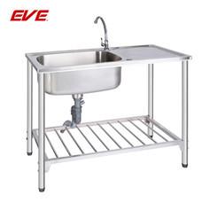 EVE อ่างล้างจานสเตนเลสสตีลชนิดมีขาตั้ง 1 หลุม 1 ที่พักจาน รุ่น ALTON 1000/500