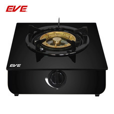 EVE เตาแก๊สตั้งโต๊ะ ฐานกระจกนิรภัยสีดำ (1 หัว) ขนาด 30 CM รุ่น HP30-1SW/AGE
