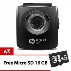 HPกล้องติดรถยนต์ รุ่น F510 BLACK CARCAMCORDER2.4inCOLORLCDSCREENSUPER HD1296P