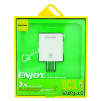 KOAKUMA AURORA 1 ENJOY FLASH SPEED 3A USB QUICK CHARGER QC3. OUTPUT WHITE
