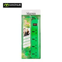 MACNUS รางปลั๊กไฟ 4 ช่อง ยาว 3 เมตร 220V รุ่น MN6164 (สีเขียว)