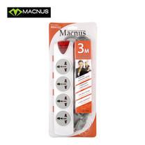 MACNUS รางปลั๊กไฟ 4 ช่อง ยาว 3 เมตร 220V รุ่น MN4102