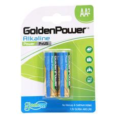 GOLDEN POWER ALKALINE GLR6ABC2 (AA 2PCS./PACK) ถ่านอัลคาไลน์ ขนาด AA แพ็ค 2 ชิ้น