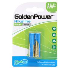 GOLDEN POWER ALKALINE GLR03ABC2 (AAA 2PCS./PACK) ถ่านอัลคาไลน์ ขนาด AAA แพ็ค 2 ชิ้น