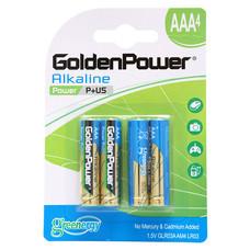 GOLDEN POWER ALKALINE GLR03ABC4 (AAA 4PCS./PACK) ถ่านอัลคาไลน์ ขนาด AAA แพ็ค 4 ชิ้น