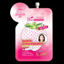 ครีมซอง White Strawberry cream 1 กล่องมี 6 ซอง