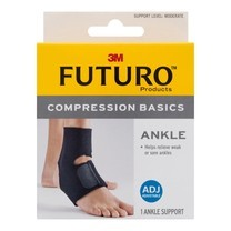 Futuro Compression Ankle Basics ฟูทูโร่ อุปกรณ์พยุงข้อเท้าปรับกระชับได้และระบายความร้อน รุ่นเบสิก