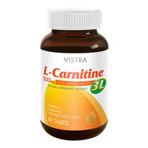 Vistra L-Carnitine 500mg Plus 3L 60tabs เร่งการเผาผลาญพลังงานในร่างกาย ช่วยลด ไขมันสะสมด้วยกรดอะมิโนอีก3ชนิด
