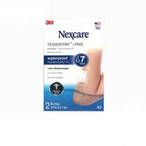 Nexcare Tegaderm+Pad A3 5x7cm. ฟิล์มปิดแผลกันน้ำพร้อมแผ่นซับ