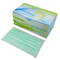 หน้ากากอนามัย3ชั้น HYGUARD(50ชิ้น/กล่อง) สีเขียว