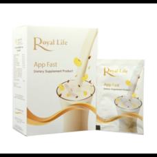 Royal Life App Fast 10 Sachet โปรตีนพืชคุณภาพสูงพร้อมสารอาหารและวิตามินรวม 13 ชนิด ขนาดบรรจุ 10 ซอง