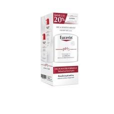 EUCERIN PH5 LOTION 400ML X2 SAVE 20% ยูเซอรีน พีเอช 5 โลชั่น 400ml แพ็ค2ขวด