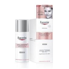 Eucerin  Ultrawhite+ Spotless Night Fluid 50 ml.ผลัดเซลล์ผิว คล้ำเสียสะสม ในช่วงค่ำคืนด้วย Dexpanthenol เห็นชัดถึงผลลัพธ์ดูขาว เปล่งประกายใน 2 สัปดาห์