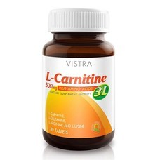 VISTRA L-CARNITINE 3L 30 Tablet เพิ่มการเผาพลาญและควบคุมน้ำหนัก