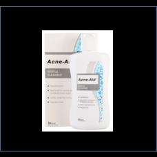 ACNE AID GENTLE LIQUID (สีฟ้า) ผลิตภัณฑ์ทำความสะอาดผิวหน้าและผิวกาย 100ml
