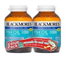 Blackmores Fish Oil 1000 DuoPack (80 แคปซูล) Packคู่ สุดคุ้ม!! แบลคมอร์ส ฟิช ออยล์ 1000 (80 แคปซูล)
